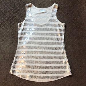 Garnet Hill Sequined T-Shirt / Size S